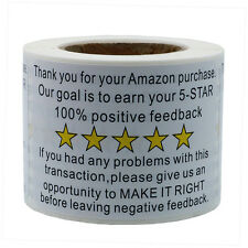 """Hybsk 2""""*3"""" Amazon Thank You For Your Purchase Feedback Shipping Adhesive Labels"""