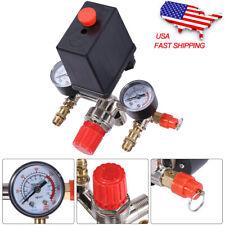 90-120 Psi Air Compressor Pressure Control Valve Manifold Regulator Gauge H5