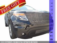 GTG 2011 - 2015 Ford Explorer 2PC Polished Replacement Billet Grille Grill Kit