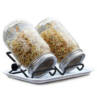 2 Pcs Sprouting Stands Foldable Non-slip Scaffolds Support for Mason Jars Phone