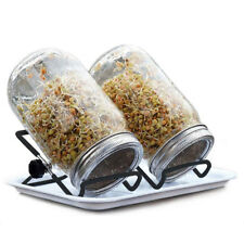 Black Foldable Mason Jar Seed Sprouting Phone Stand Stainless Steel Scaffolds