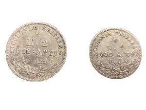 Monete Colonia eritrea 1 Lira e 2 Lire Argento