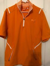 NWT Mens Puma Golf Short Sleeve Kinetic Jacket Orange Men's Small New
