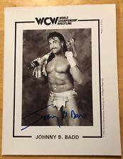 1995 WCW Johnny B Badd Autographed Photo 8.5 X 11 World Championship Wrestling