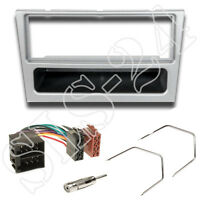 Radioblende OPEL Corsa C Omega lichtsilber + ISO Verlängerung Adapter + Entrieg