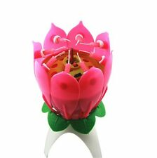 Birthday Candles Musical Flower Music Candles  1pcs Fashion Lotus Flower Candle