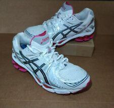 ASICS GEL-KAYANO 17 Womens Size 9.5 Running Shoes White Pink Grey Silver