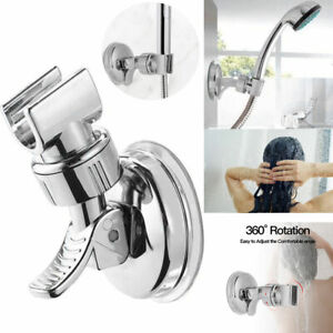 DragzZ 360/° Adjustable Rotatable Shower Head Holder,Universal Wall-Mounted Shower Head Holder Bracket,Flexible No-Punching Shower Rack Strong for Bathroom Green 1 Pcs