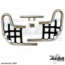Banshee YFZ 350 YFZ350   Nerf Bars  Alba Racing  Silver bar black nets 207 T1 SB