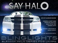 2008 2009 2010 Dodge Avenger Halo Fog Lamps LED Angel Eye Driving Lights Kit