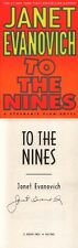 Janet Evanovich SIGNED AUTOGRAPHED To The Nines *Stephanie Plum* HC 1st Ed/ 1st