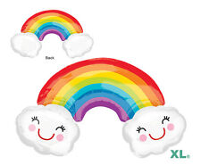 RAINBOW with CLOUDS balloon SUPERSHAPE Foil Anagram can be used for TROLLS Decor