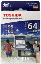 64gb Toshiba SDHC 4k HD U3 tarjeta de memoria EXCERIA 95mb / Segundos n401