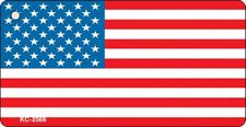 American Flag Novelty Aluminum Key Chain