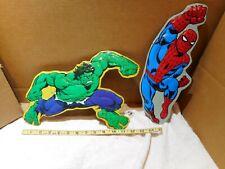 ~LOT OF 2~ Marvel Tins Spiderman,,Hulk, USED