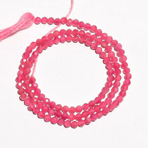 """16.3 Ct. Natural Pink Tourmaline Gemstone Rondelle Faceted Beads String 13"""""""