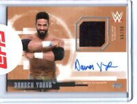 WWE Darren Young 2017 Topps Undisputed Bronze Autograph Relic Card SN 86 of 99
