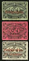 Guatemala Stamps VF Lot of 3 Overprint Revenues