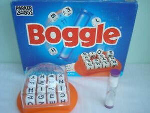 Boggle 3 Minute Word Game by Parker Hasbro 1996 Complete