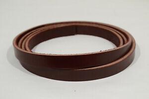 """Leather Strip - Burgundy Latigo - 5/8"""" - 10-11 oz - 1 Piece (E422)"""