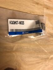 """Smc Kqgh07-N02S Stainless Steel one touch fitting Male 1/4"""" Npt x 1/4"""" Od tube"""