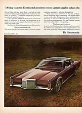 Print. 1971 Lincoln Continental Mark III auto ad