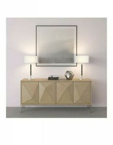 Henn&Hart Two Tone Table Lamp Matte Black and Brushed Nickel and Gray  Finish