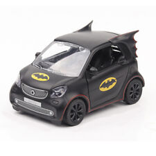1:36 Batman Pattern Smart Fortwo Car Model Alloy Diecast Black Gift Collection