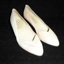 Bruno Magli Pumps Size 9 AA US Made in ITALY White High Heels Leather Shoes