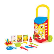 Kids 18 pcs cuisine shopping trolley chariot jeu de rôle jouet nourriture ustensiles set holder