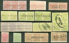 EDW1949SELL : COLOMBIA Nice collection of sgls & multiples w/interesting cancels