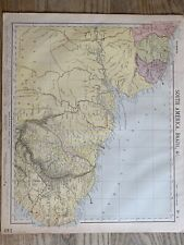 1889 NORTH BRAZIL & THE GUIANAS ANTIQUE MAP BY LETTS, SON & Co. 131 YEARS OLD