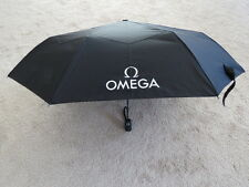 Omega Watches Compact Umbrella Black With White Logos With Case
