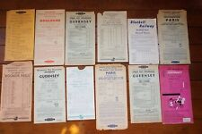 More details for southern region railway timetable handbill x12 southampton guernsey weymouth