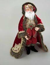 "Holiday Cheer Santa Doll 24""- by Katherine's Collection at Silverlake"
