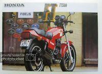 HONDA FT500 MOTORCYCLE Sales Brochure 1982 #2CO128