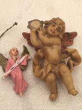 "Vintage Angels Small Miniature 1"" Plastic Nativity Christmas Ornament Set Lot 2"