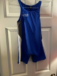 N2N Bodywear Men's Galaxy Mesh Singlet - M, Blue