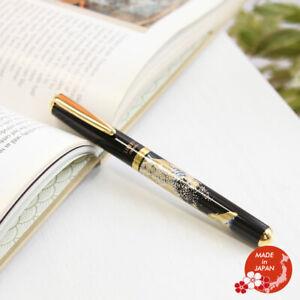 Maki-e Urushi Lacquer Makie Ballpoint Pen Yamanaka lacquerware Wave Motif New