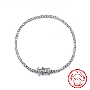 Tennis Bracelet 925 Sterling Silver with Zirconia Stone 2mm FREE BOX++