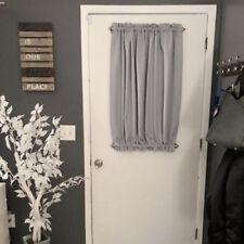Home Front French Door Window Curtain Panel w/ Tieback Room Darkening Gray
