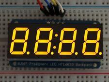 """Adafruit 0.56"""" 4-Digit 7-Segment Display w/I2C Backpack - Yellow [ADA879]"""