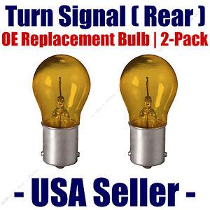 Rear Turn Signal/Blinker Light Bulb 2-pack Fits Listed BMW Vehicles - 7507NA