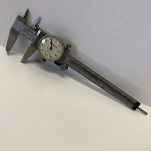 "Mitutoyo 505-637-50 6"" Dial Caliper machinist shock Made In Japan M.N 85"