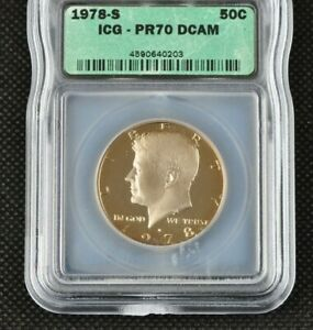1978-S Proof Kennedy Half Dollar Certified ICG PR 70 DCAM