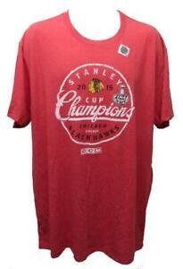 2015 Stanley Cup Champions Chicago Blackhawks Mens Size 2XL 2XLarge CCM Shirt