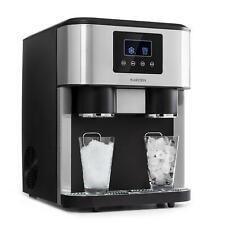 Máquina hielos hacer cubitos hielo 2 Tamaños picado plateada fabrica Klarstein