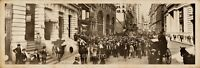"1902 Curb Market Wall Street Broad St New York City Vinage Panoramic Photo 20"" L"