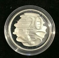 1991 SILVER Proof 20 Cent Platypus Coin out of Masterpieces Set  Australia