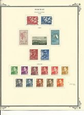 Norway Collection 1956 to 1961 on 2 Scott Specialty Pages